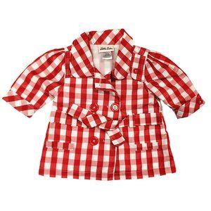 🌸💲5) Little Lass Jacket Red & White Jacket 12m